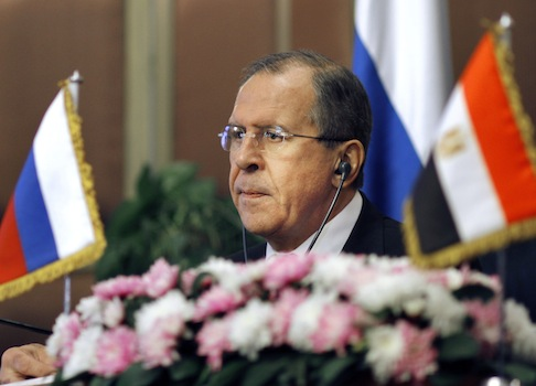 Russian foreign minister Sergei Lavrov / AP