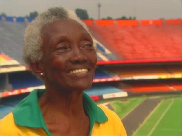 Melânia Luz em 2007, aos 79 anos, em gravação do Esporte Espetacular  - Reprodução TV Globo