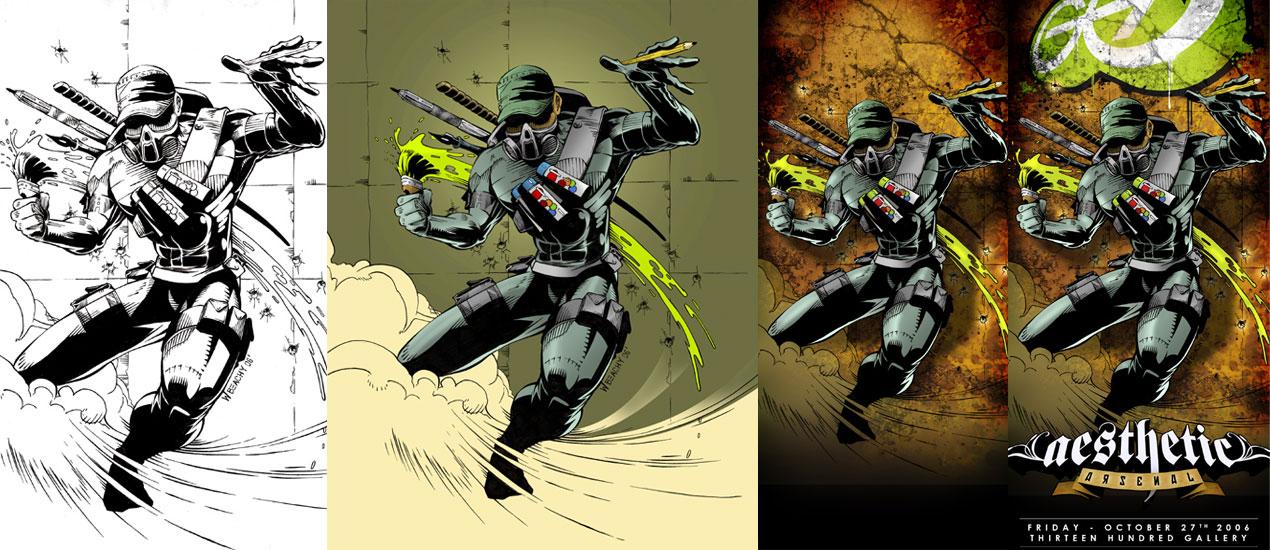 Tutorial Comic Book Style Graphic Design