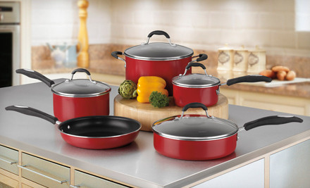 Red Kitchen Cookware Set