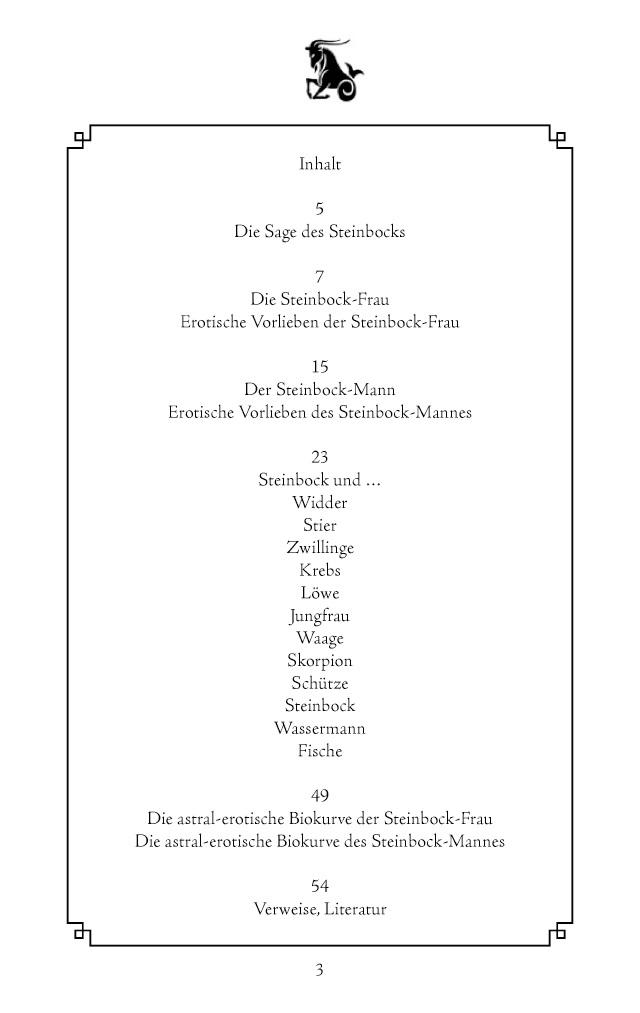 Bod Leseprobe Horoskop Der Liebe Sternzeichen Steinbock