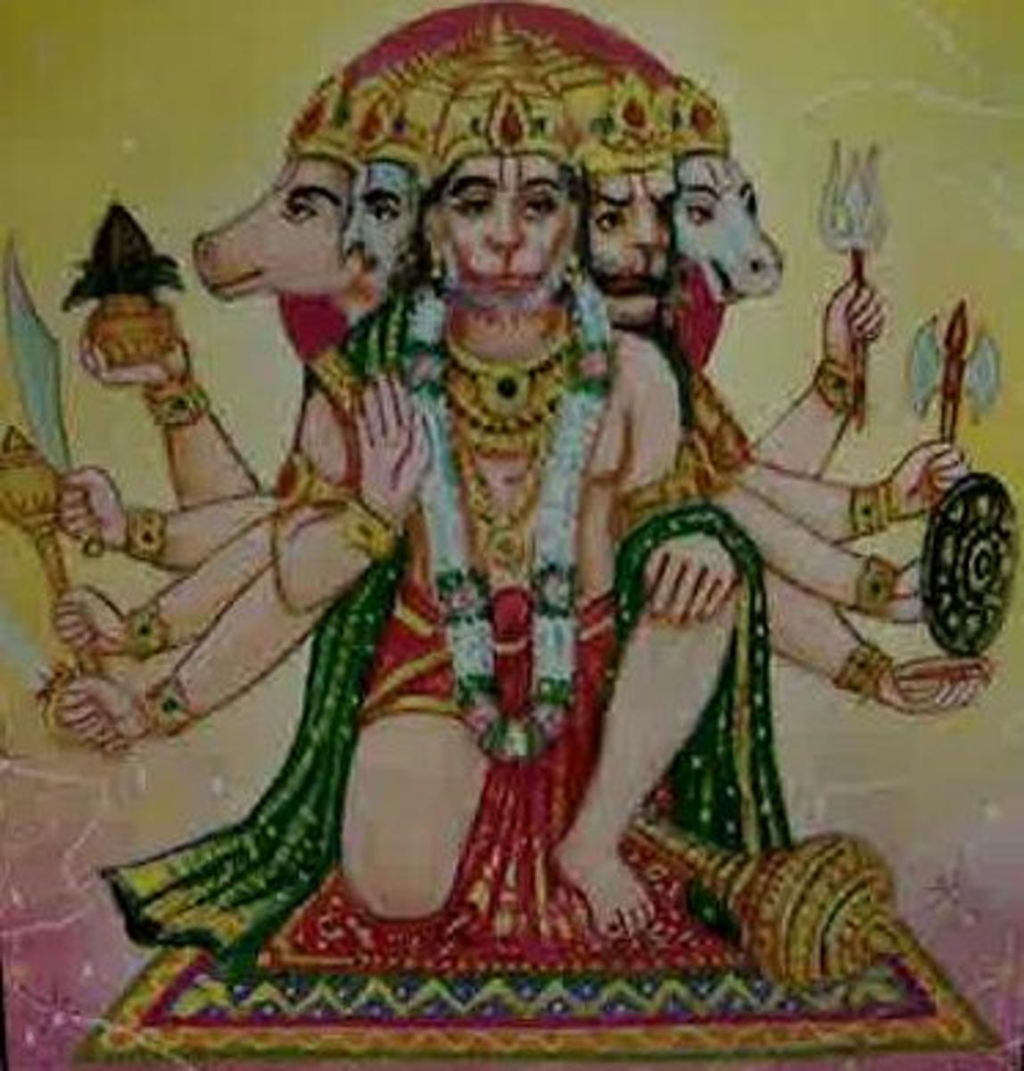 Picture depicting verse 31 of the Hanuman Chalisa