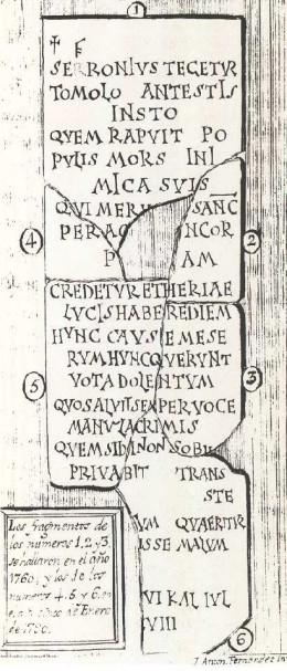 Gravestone of a seventh-century bishop of Segobriga