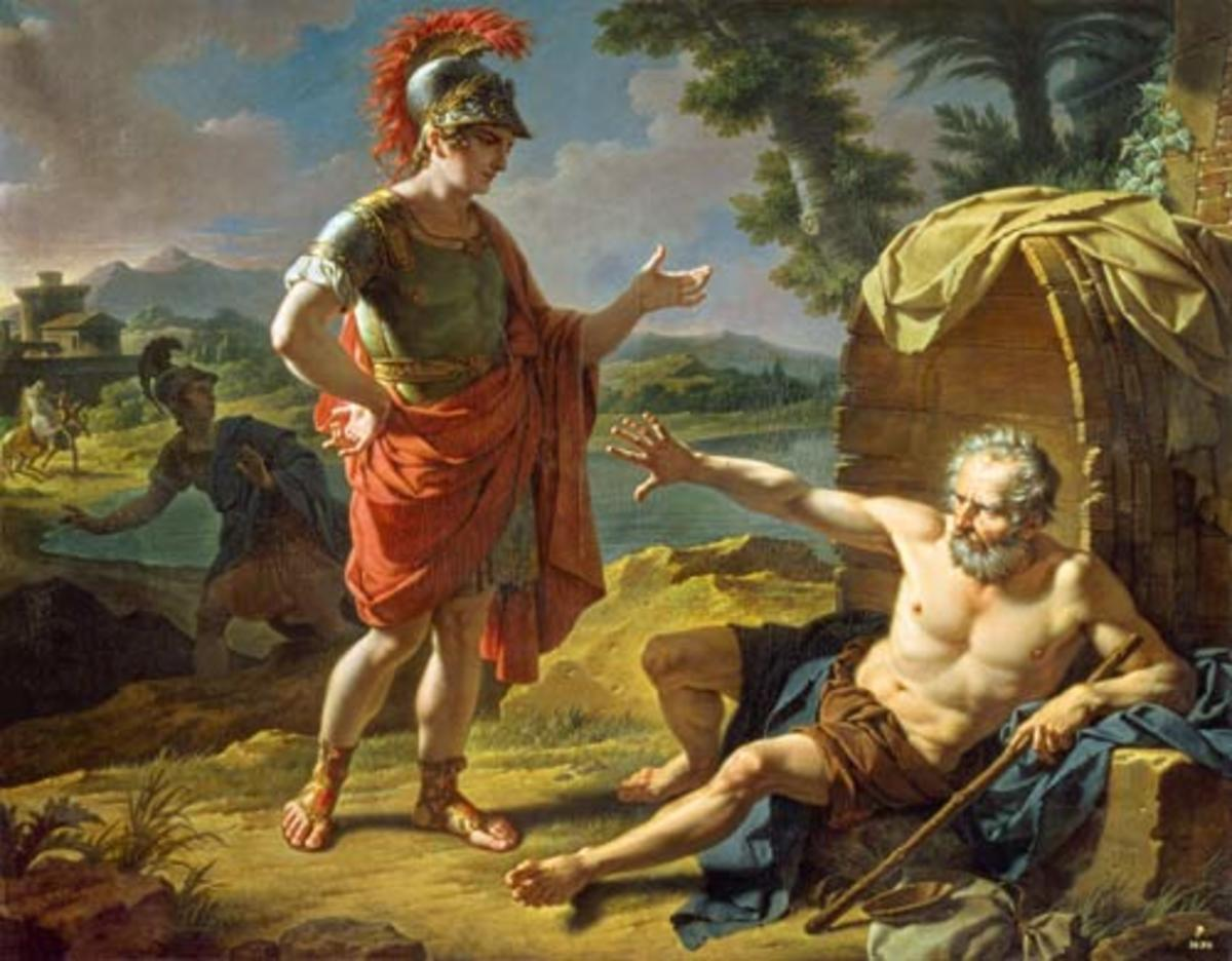Image result for alexander meets diogenes images