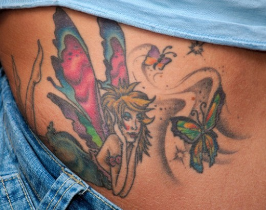 Check out a tattoo gallery featuring top fairy tattoo designs at
