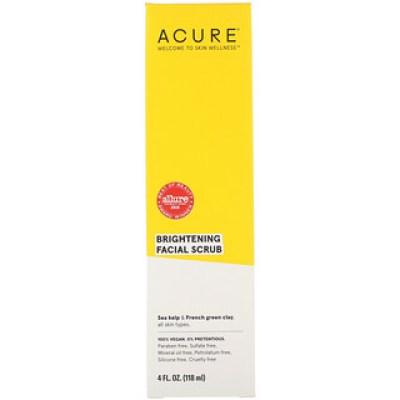 Acure, Brilliantly Brightening، صنفرة للوجه، 4 أوقية سائلة (118 مل)