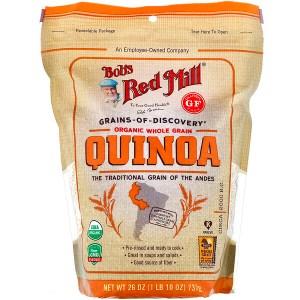 Bob's Red Mill, عضوي، دقيق كوينوا من الحبوب الكاملة، 26 أوقية (737 جم)
