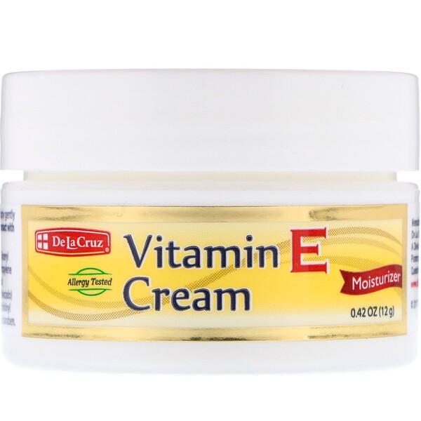 De La Cruz, ビタミンEクリーム、0.42オンス (12 g)