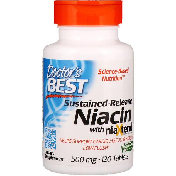 Doctor's Best, niaXtend配合徐放性、500mg、120錠