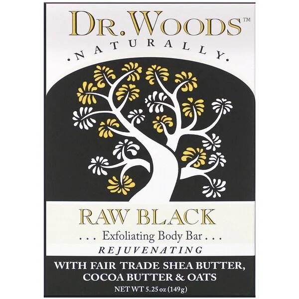 Dr. Woods, Body Bar, Raw Black, 5.25 oz (149 g)