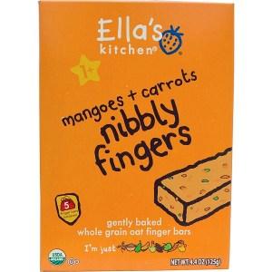 Ella's Kitchen, أصابع للأكل، المانجو + الجزر، 5 قوالب، 4.4 أوقية (125 غم)