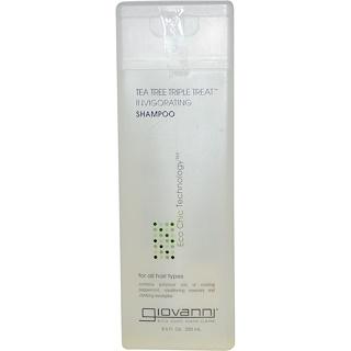 Giovanni, شامبو شجرة الشاي منشط ذو علاج ثلاثي، 8,5 أوقية سائلة (250 مل) افضل منتجات اي هيرب للشعر