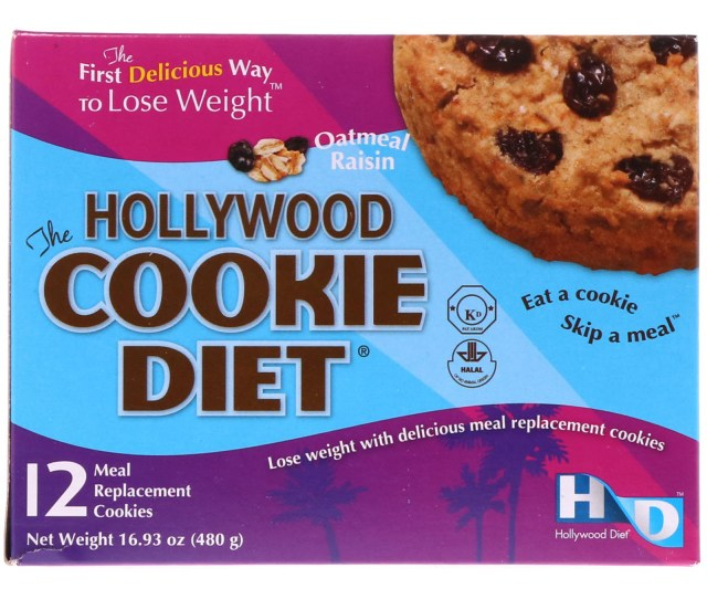 Hollywood Diet The Hollywood Cookie Diet Oatmeal Raisin  Meal Replacement Cookies