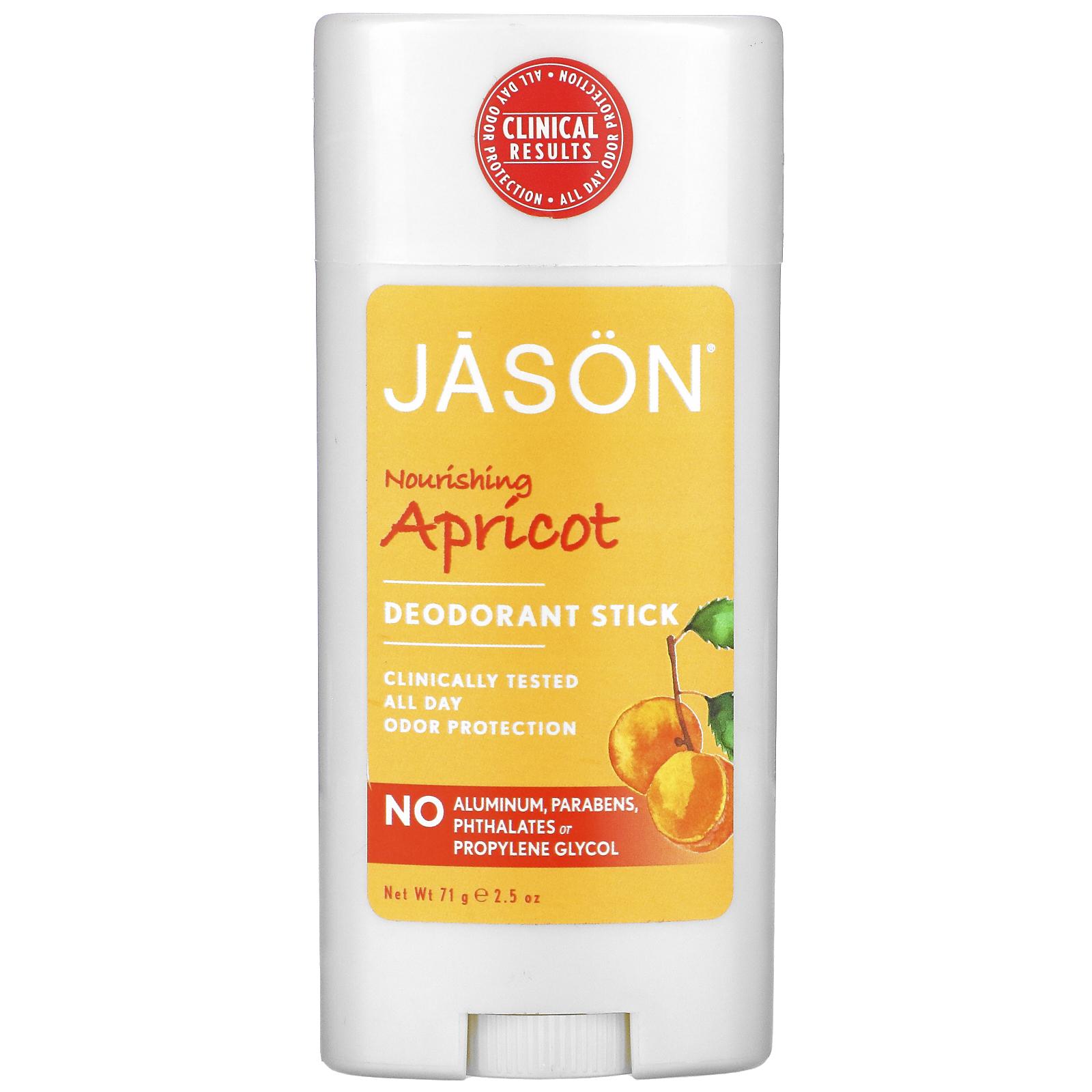 jason natural deodorant stick nourishing apricot 2 5 oz 71 g