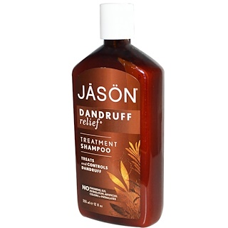 Jason Natural, شامبو علاجي، مزيل لقشرة الشعر، 12 أونصة سائلة (355 مل)