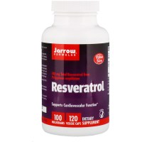 Jarrow Formulas, レスベラトロール、100 mg、ベジキャップ使用 120 錠