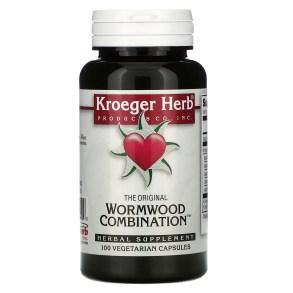 Kroeger Herb Co, The Original Wormwood Combination, 100 Vegetarian Capsules  - iHerb