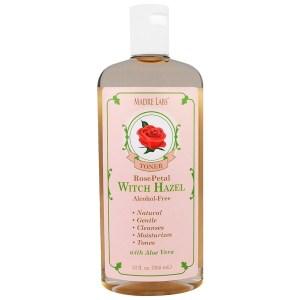 Madre Labs, Witch Hazel Toner مرطب ونباتي، وردة تويجية، خال من الكحول، و 12أوقية. (355 مل) (Discontinued Item)