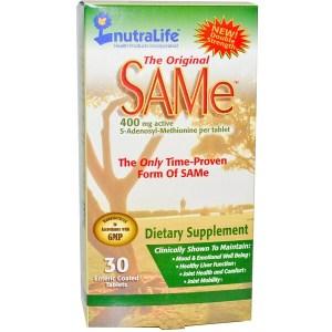 NutraLife, The Original SAM-e(S-アデノシル-L-メチオニン) 400 mg、腸溶性コーティングタブレット30錠