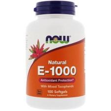 Now Foods, E-1000、ソフトジェル100 錠