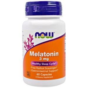 Now Foods, メラトニン, 3 mg, 60 カプセル