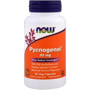 Now Foods, ピクノジェノール、 30 mg、60植物性カプセル
