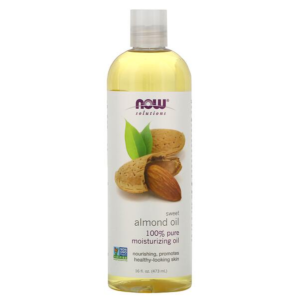 Now Foods, ソリューション、スイート・アーモンドオイル、16液量オンス (473 ml)