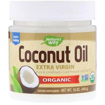 Nature's Way, Organic Coconut Oil、Extra Virgin、16oz (448g)
