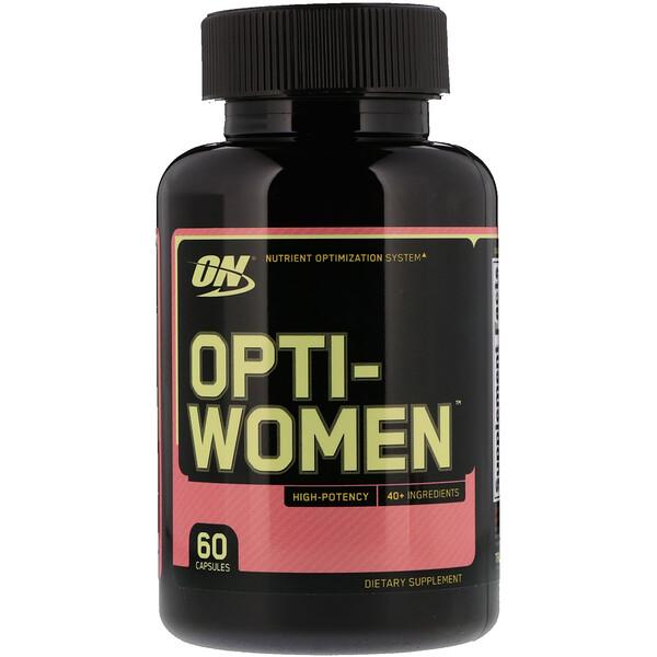 Optimum Nutrition, オプティウーマン、60カプセル