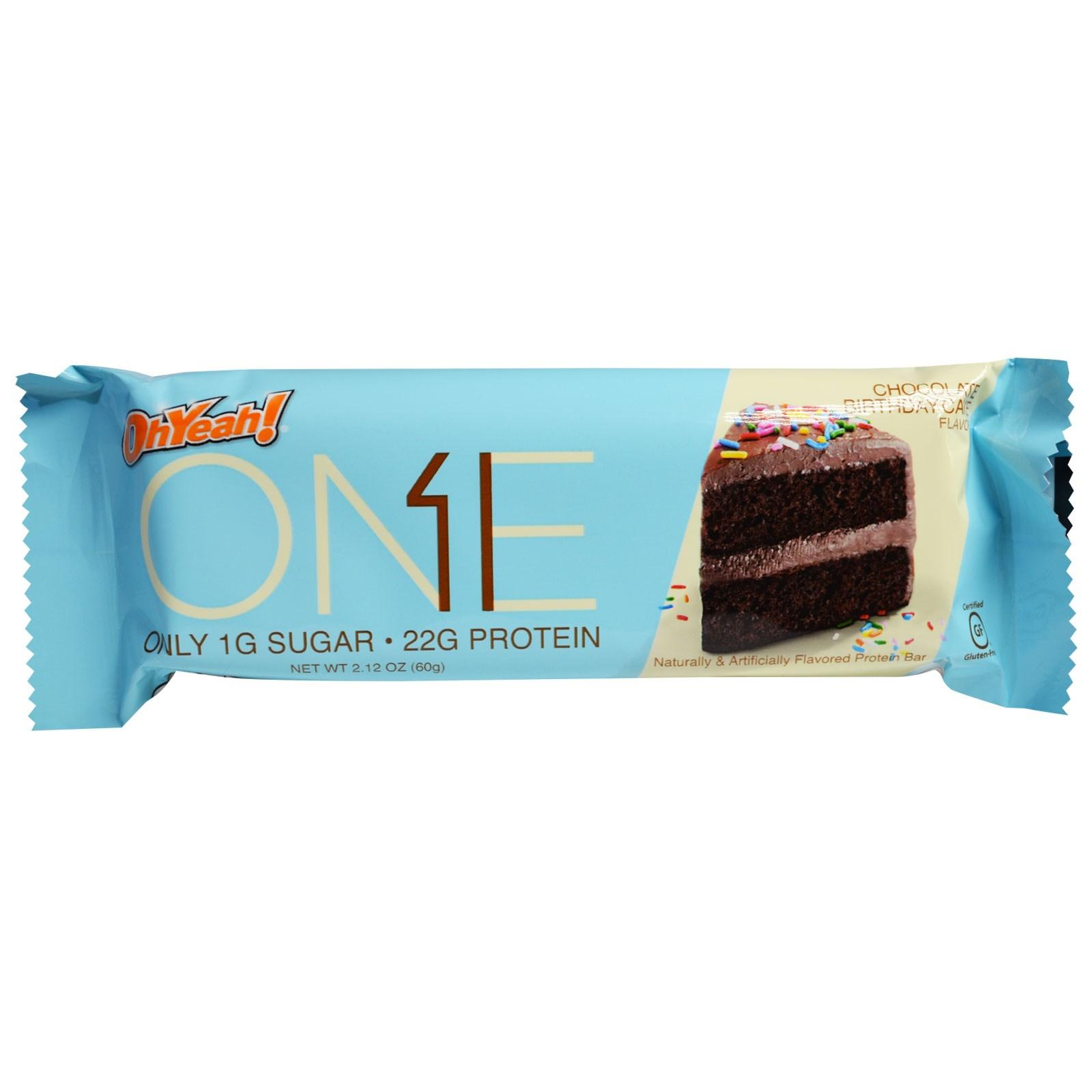 One Brands One Bar Chocolate Birthday Cake 12 Bars 2 12 Oz 60 G Each Iherb