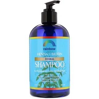 Rainbow Research, شامبو أعشاب من الحناء & و البيوتين، 12 أونصة سائلة (360 مل) افضل منتجات اي هيرب للشعر