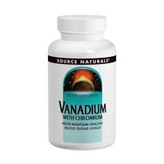 Source Naturals, Vanadium avec chrome, 90comprimés