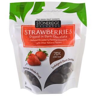 Stoneridge Orchards, فراولة مغمورة في شيكولاتة داكنة، 5 أونصة (142 غ)