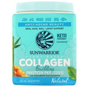 Sunwarrior, ببتيدات الكولاجين الباني للبروتين، طبيعي، 17.6 أوقية (400 جم)