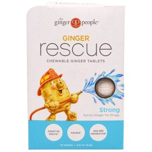 The Ginger People, Ginger Rescue، وأقراص زنجبيل للمضغ، قوية، 24 قرص (15.6 جم) (Discontinued Item)