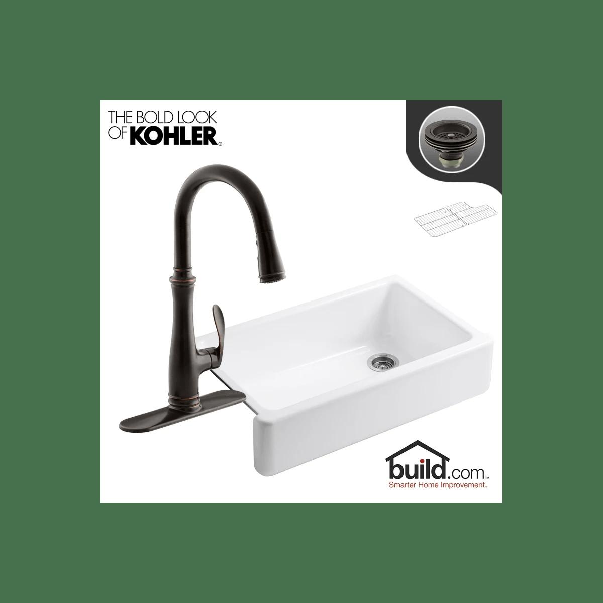 single basin farmhouse kitchen sink