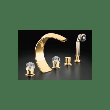 kohler undefined polished brass faucet