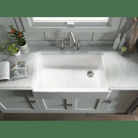 Kohler K 6351 0 White Whitehaven 36 Single Basin