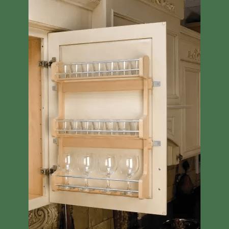 Rev A Shelf 4SR 21 Natural Wood 4SR Series Door Mount Spice Rack For 21 Wall Cabinet