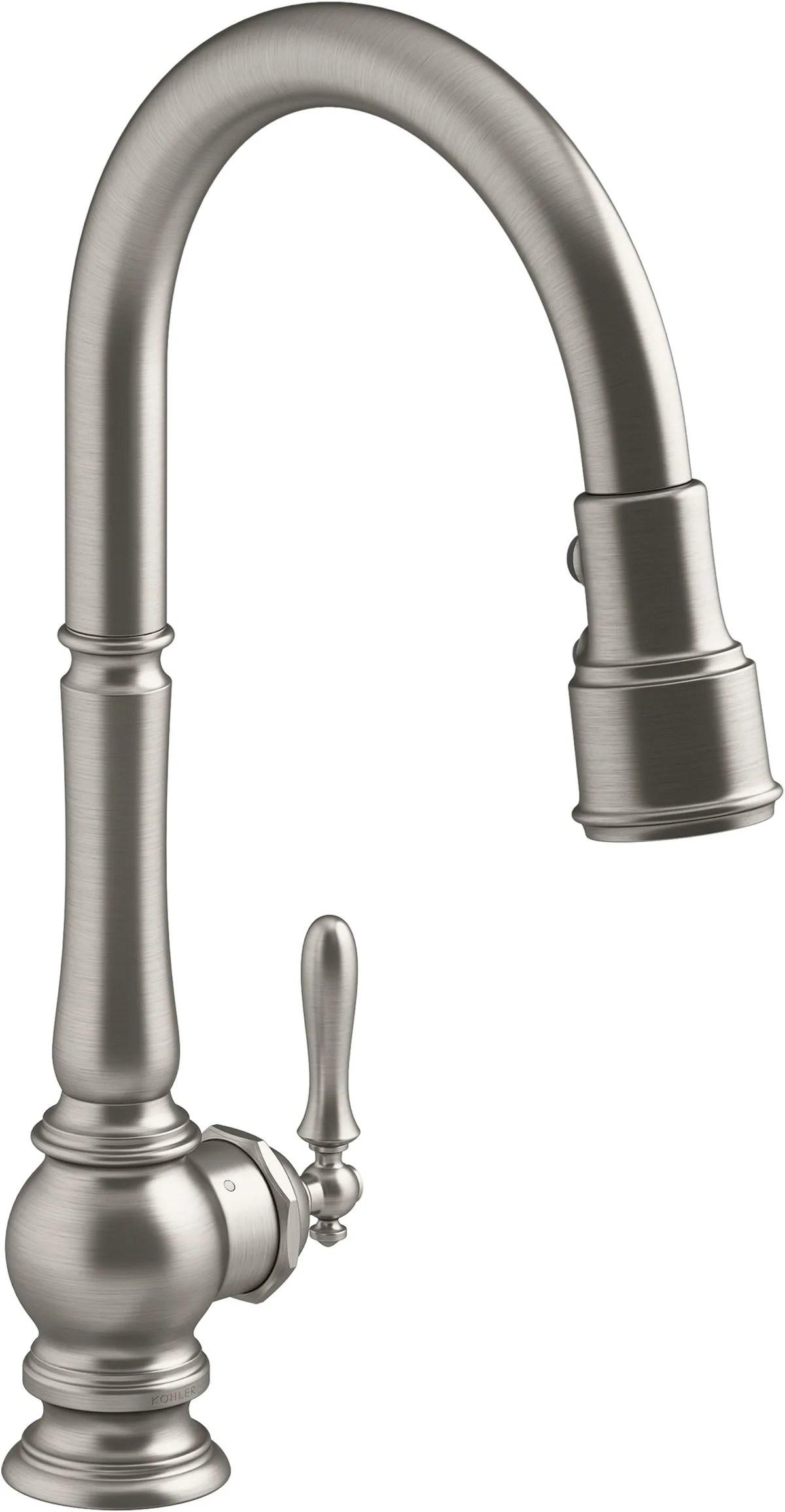kohler kitchen faucet hole size a