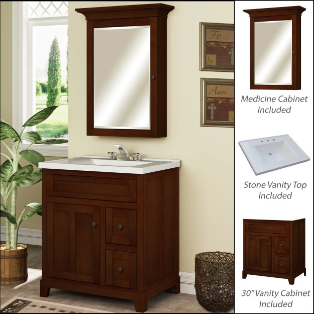 "miseno mvgh30com smoked amber 30"" bathroom vanity set - cabinet"