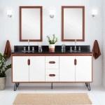 Signature Hardware 447309 White Cinnamon Millie 72 Teak Wood Double Vanity Cabinet Choose Your Vanity Top And Sink Configuration Faucet Com