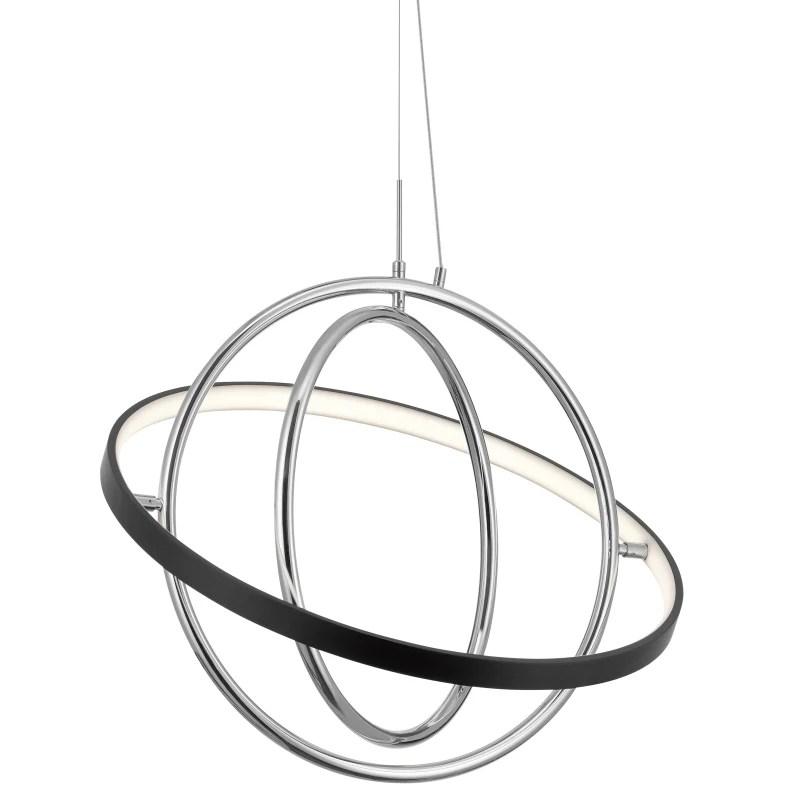 elan elan 84161 arvo single light 21 wide led globe chandelier chrome matte black indoor lighting chandeliers from build com inc accuweather