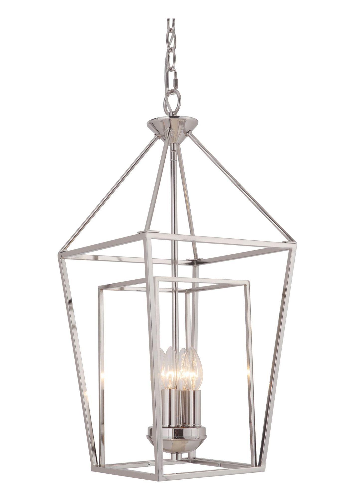 Craftmade Bronze Hudson 4 Light 12 W Cage Pendant