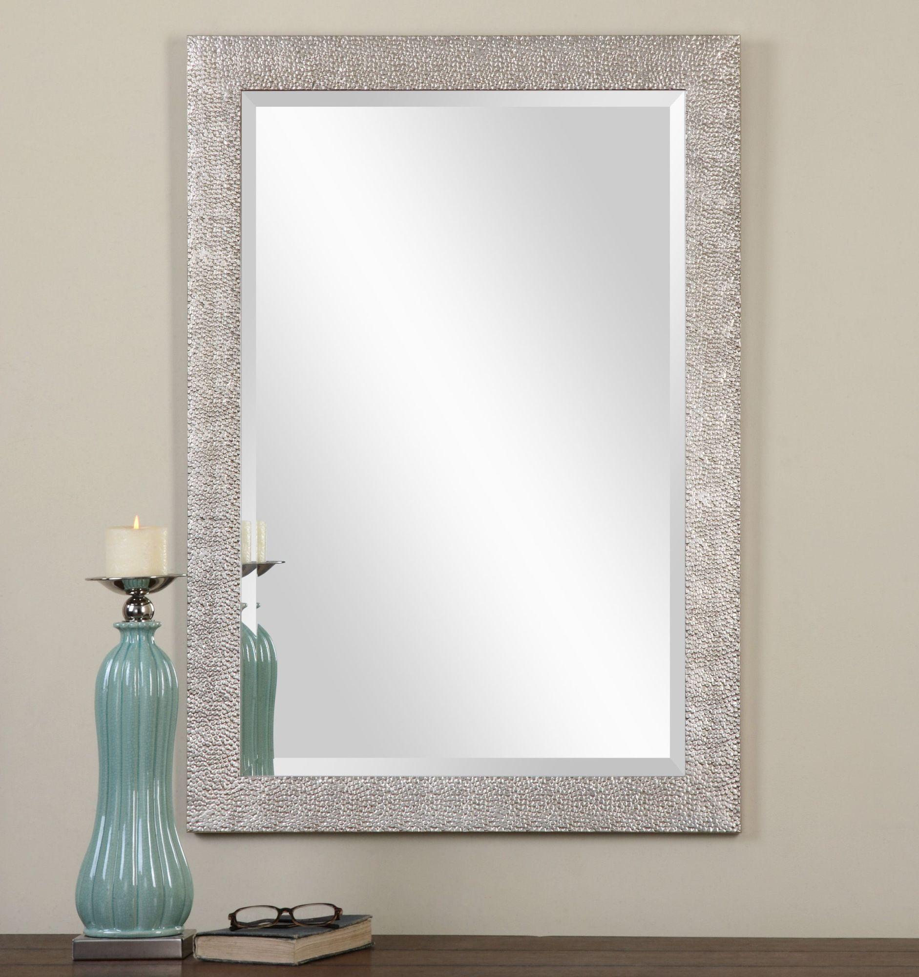 Uttermost Silver Porcius Antiqued Texture Mirror