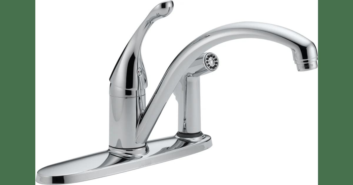 delta 340 dst collins kitchen faucet with side build com