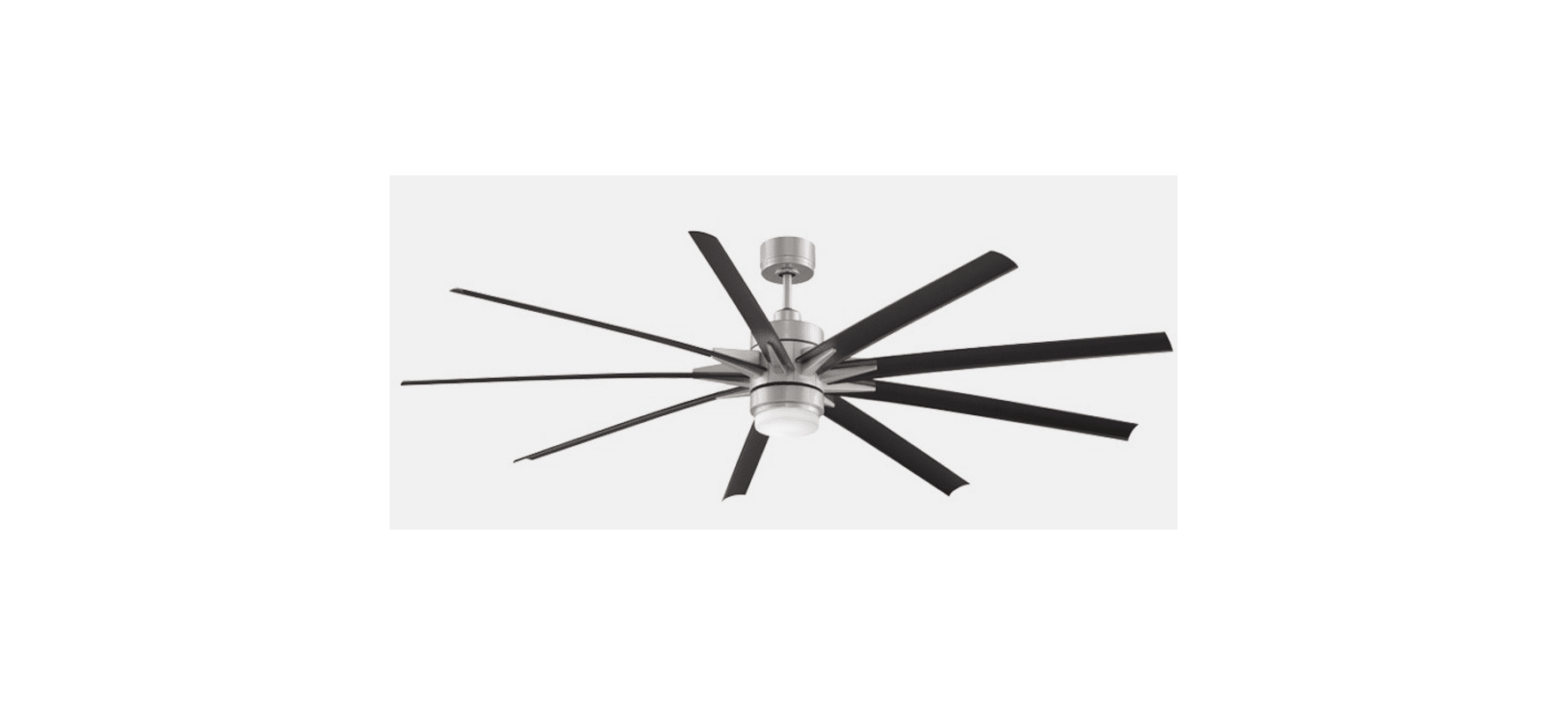84 Fanimation Odyn 9 Blade Led Ceiling Fan W Remote Amp Light Kit Brushed Nickel