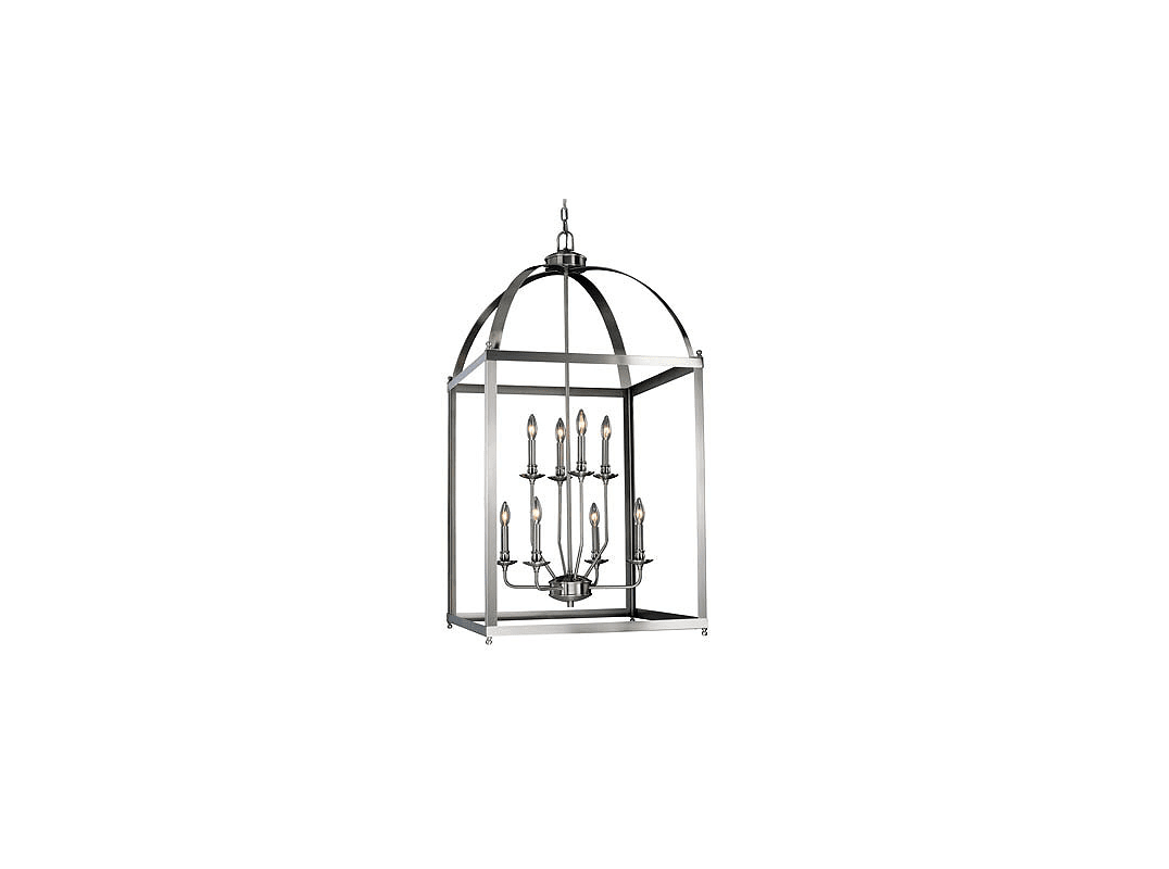 Vaxcel Lighting P Satin Nickel Juliet 8 Light Pendant