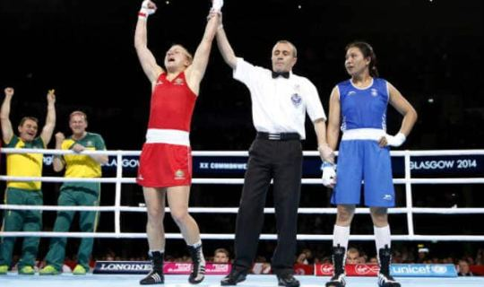 Boxer Laishram Devi wins 24th silver for India in the Commonwealth     Boxer Laishram Devi wins 24th silver for India in the Commonwealth Games  2014