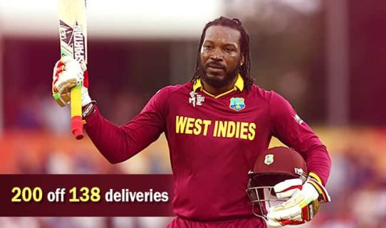 Chris Gayle double Century